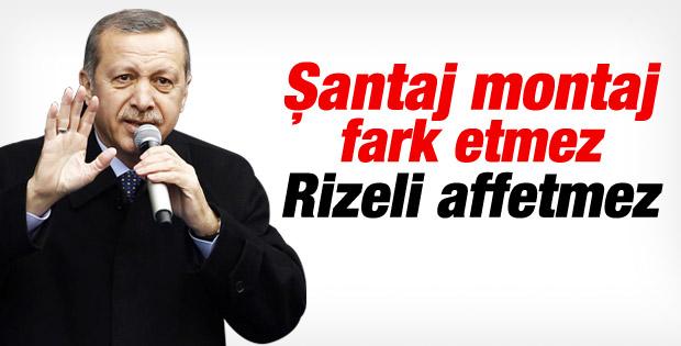 Başbakan Erdoğan'ın Rize mitingi konuşması İZLE