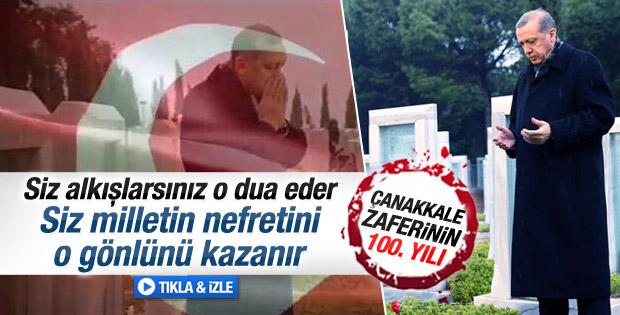 Erdoğan Çanakkale destanı filminde şiir okudu