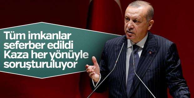 Cumhurbaşkanı Erdoğan: Kaza her yönüyle soruşturuluyor