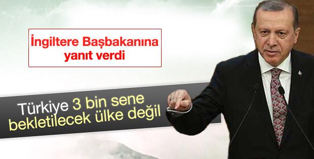 Cumhurbaşkanı Erdoğan'dan Cameron'a 3 bin sene yanıtı