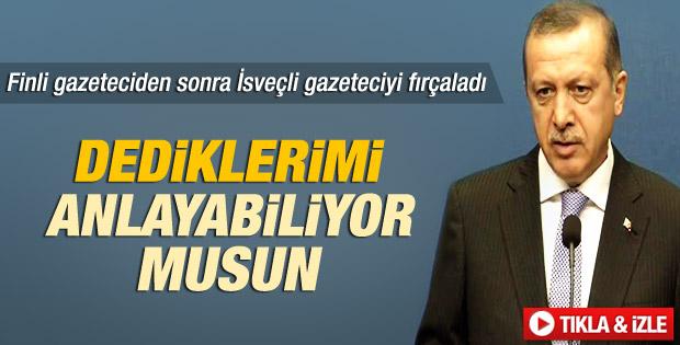 Erdoğan'dan gazeteciye: Öyle bir grup mu var - izle