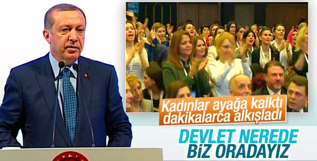Cumhurbaşkanı Erdoğan Kadın İşçiler Kurultayı'nda