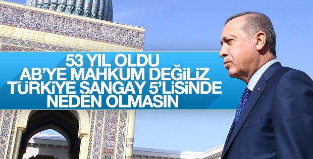 Cumhurbaşkanı Erdoğan'dan Avrupa Birliği'ne Şangay resti