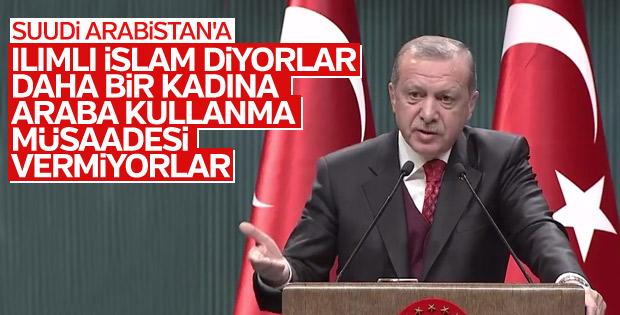 Cumhurbaşkanı Erdoğan, Genç Kadın Liderler Programı'nda
