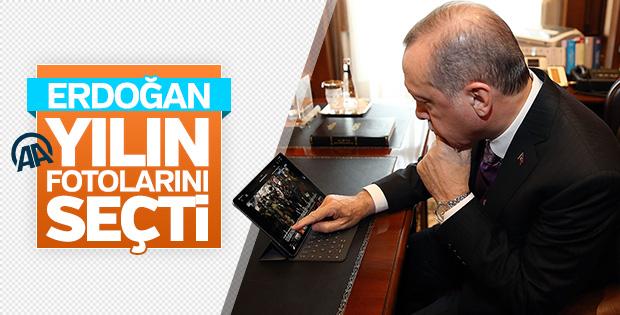 Cumhurbaşkanı Erdoğan yılın fotoğraflarını oyladı