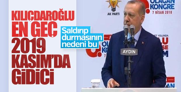 Erdoğan: Kılıçdaroğlu 2019'da gidici