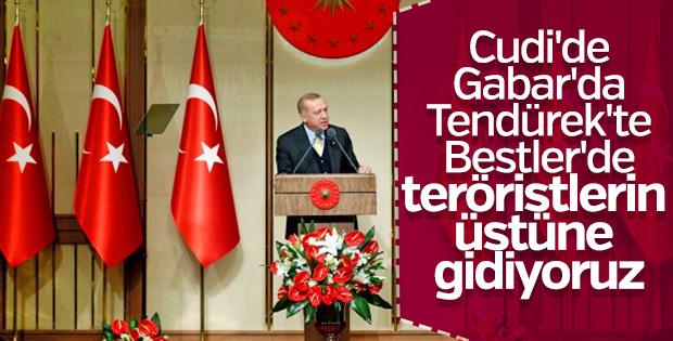 Cumhurbaşkanı: Teröristlerin üstlerine gidiyoruz