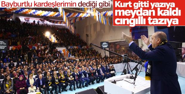 Cumhurbaşkanı Erdoğan Bayburt'ta konuştu