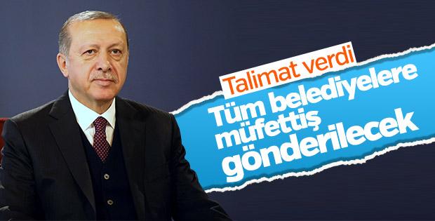 Cumhurbaşkanı Erdoğan belediyelerin denetleneceğini duyurdu