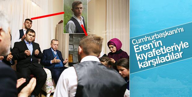Cumhurbaşkanı Erdoğan şehit Eren Bülbül'ün evinde