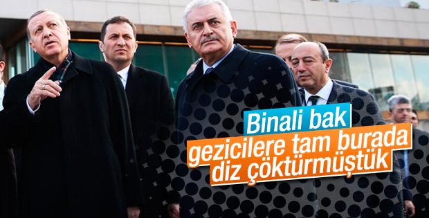 Cumhurbaşkanı Erdoğan Taksim'e gitti