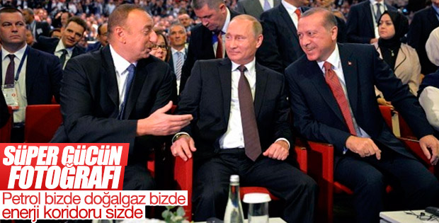 Erdoğan, Putin ve Aliyev İstanbul'da buluştu