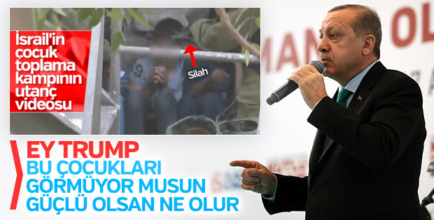 Erdoğan'dan Trump'a: Kafeslerdeki çocukları görmedin mi?