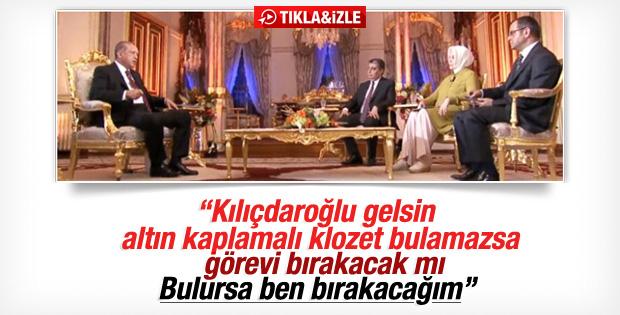Cumhurbaşkanı Erdoğan'dan Kılıçdaroğlu'na altın klozet yanıtı