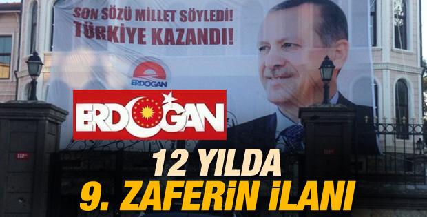 Erdoğan'ın Kısıklı'daki evinin önünde pankart açıldı