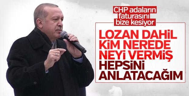Erdoğan'dan CHP'ye Ege Adaları yanıtı