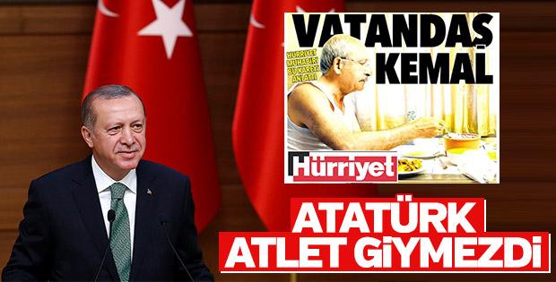 Erdoğan Kılıçdaroğlu'nun atletli fotoğrafına değindi