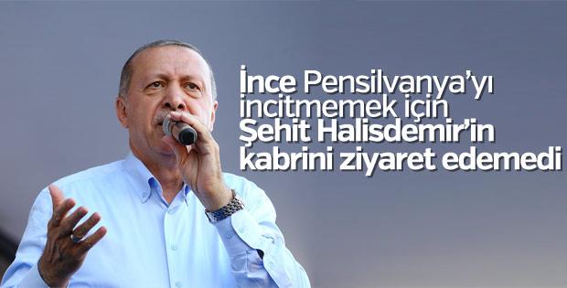 Cumhurbaşkanı: İnce Halisdemir'in kabrini ziyaret etmedi