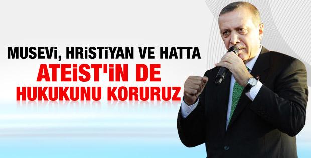 Başbakan Van Özalp'ta konuştu