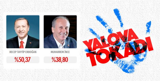 Yalova'da zafer Erdoğan'ın