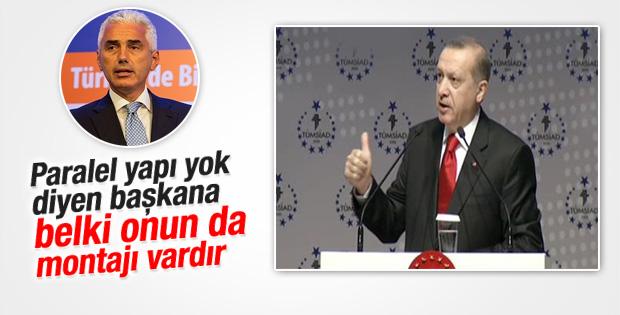 Erdoğan eski TÜSİAD başkanına sert çıktı