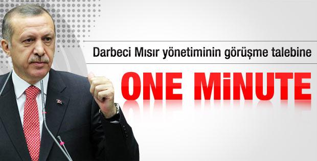 Başbakan Erdoğan'dan Mısır'daki darbecilere veto