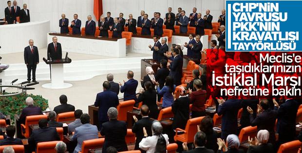 HDP'li milletvekilleri İstiklal Marşı okumadı