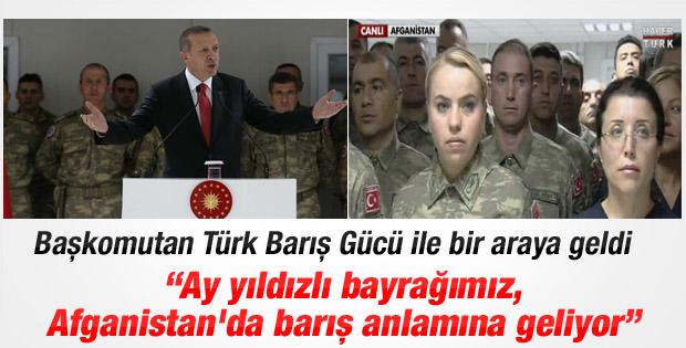 Erdoğan Afganistan'daki Doğan Kışlası'nda konuştu