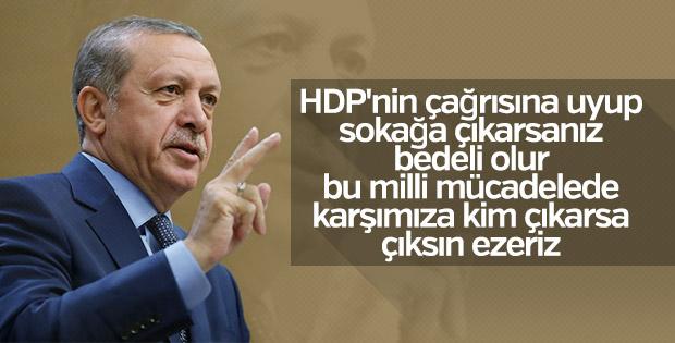 Erdoğan'dan HDP'nin sokak çağrısına tepki