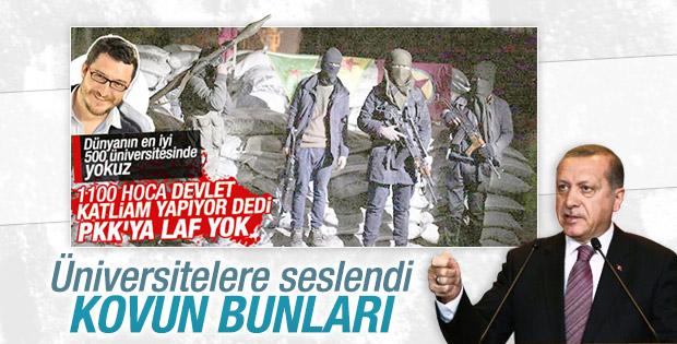 Cumhurbaşkanı Erdoğan'dan akademisyenlere tepki