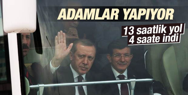 Davutoğlu ile Erdoğan İstanbul-Konya YHT açılışında