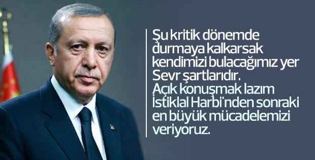 Erdoğan'dan mücadele vurgusu