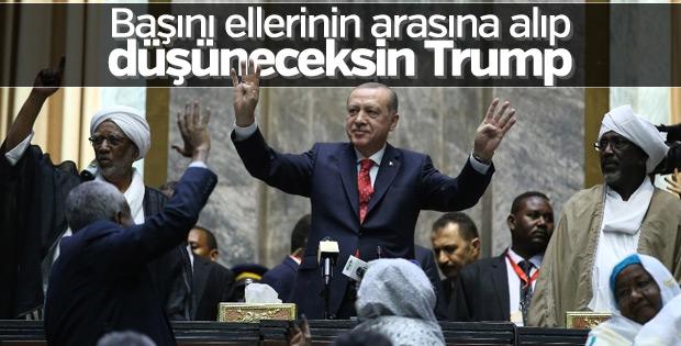 Cumhurbaşkanı Erdoğan Sudan'dan Trump'a seslendi