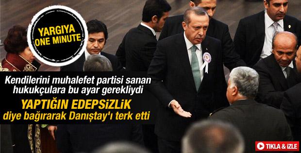 Başbakan Erdoğan Danıştay törenini terk etti İZLE
