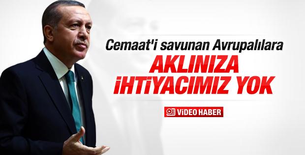 Cumhurbaşkanı Erdoğan'dan AB'ye yanıt