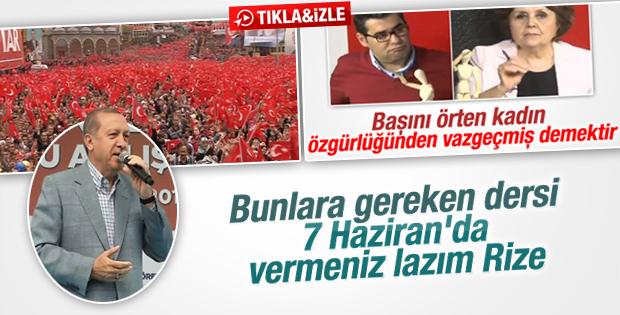 Cumhurbaşkanı Erdoğan'ın Rize konuşması