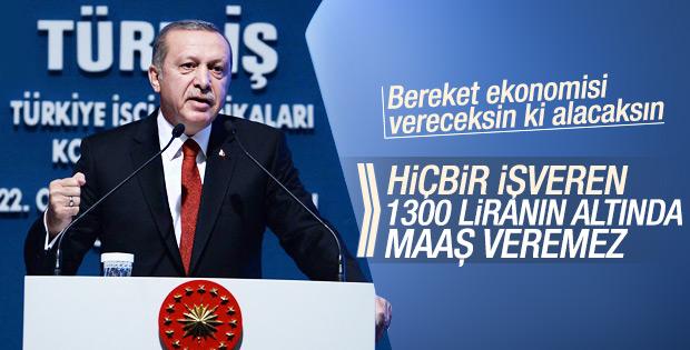 Cumhurbaşkanı Erdoğan'ın Türk-İş Genel Kurulu konuşması