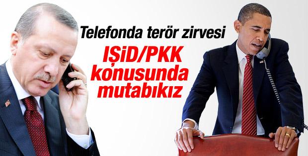 Obama ve Erdoğan telefonda görüştü