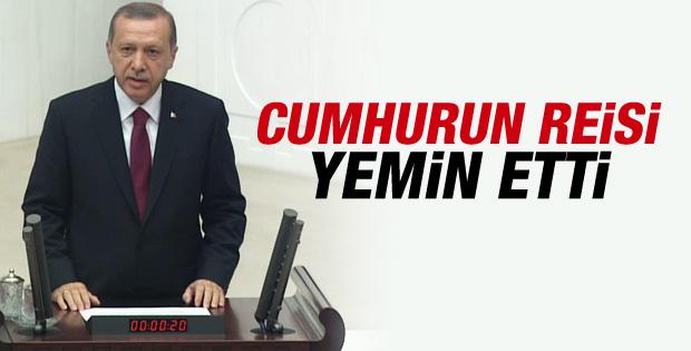 Erdoğan'ın cumhurbaşkanlığı yemini İZLE