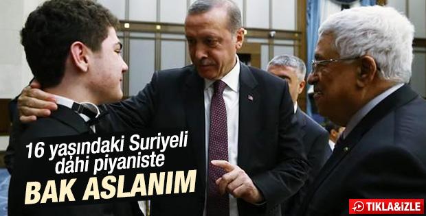 Erdoğan'ın Suriyeli dahi piyanistle diyaloğu