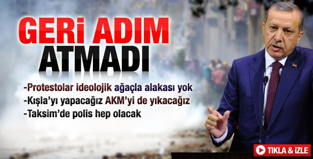 Başbakan Erdoğan'ın Gezi Parkı açıklaması - izle