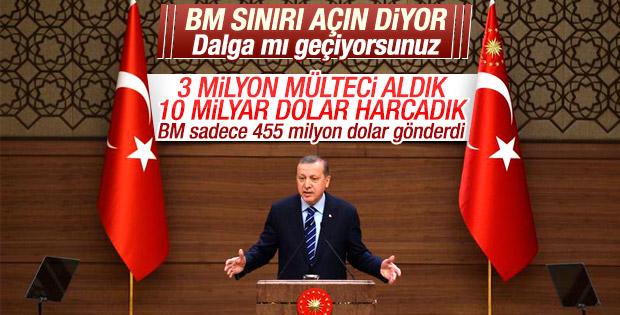 Cumhurbaşkanı Erdoğan'dan BM'ye tepki
