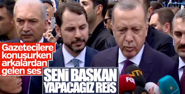 Canlı yayında 'Seni başkan yapacağız' sloganı atıldı