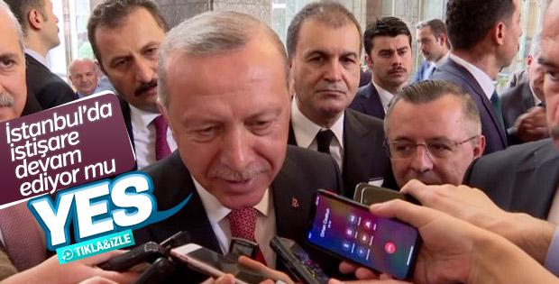 Başkan Erdoğan'ın muhabirle 'yes' diyaloğu