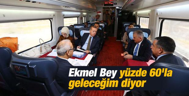 Başbakan Erdoğan Yüksek Hızlı Tren'e bindi