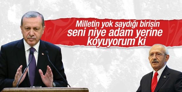 Erdoğan'dan Kılıçdaroğlu'na: Milletin yok saydığı birisin