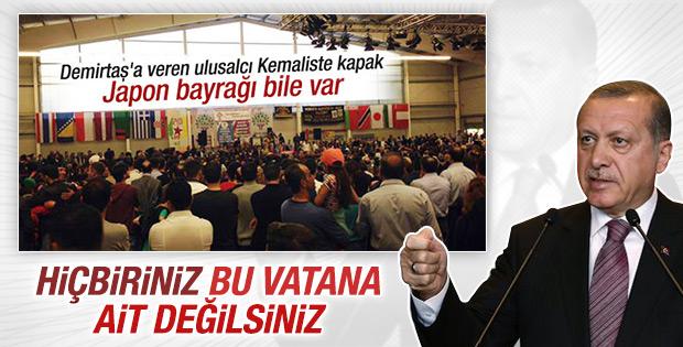Erdoğan'dan Türk bayraksız HDP toplantısına tepki