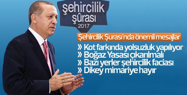 Cumhurbaşkanı Erdoğan Şehircilik Şurası'nda konuştu