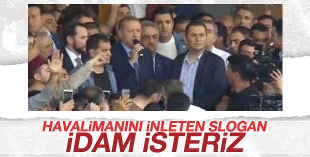Erdoğan'ın sözünü kesen slogan: İDAM İSTERİZ