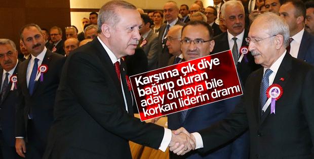 Cumhurbaşkanı Erdoğan'ı gören Kılıçdaroğlu panik yaptı